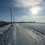 Icy winter roads on a Father's Day Run