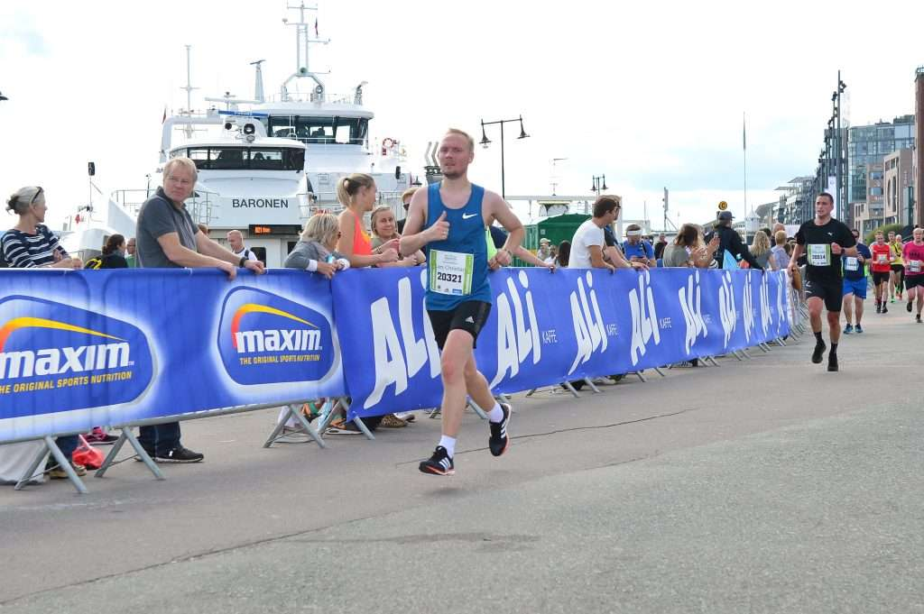 Runner at Oslo Maraton half 2017