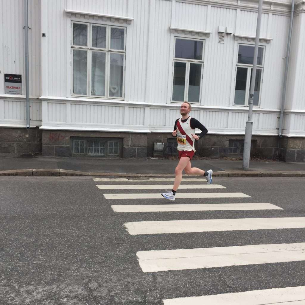 Runner on crossing.