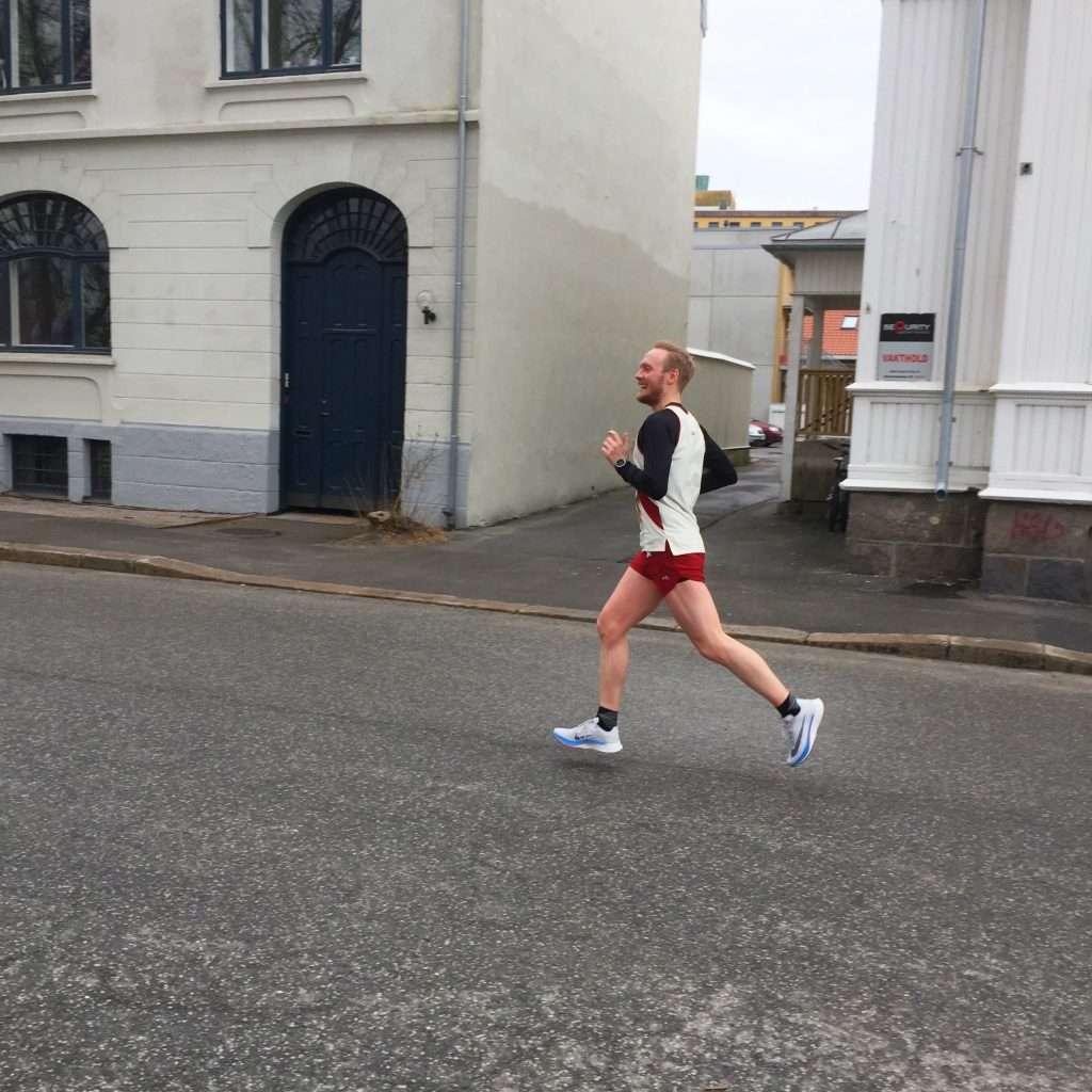 Runner on the road.