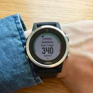 Garmin training load shows recovery