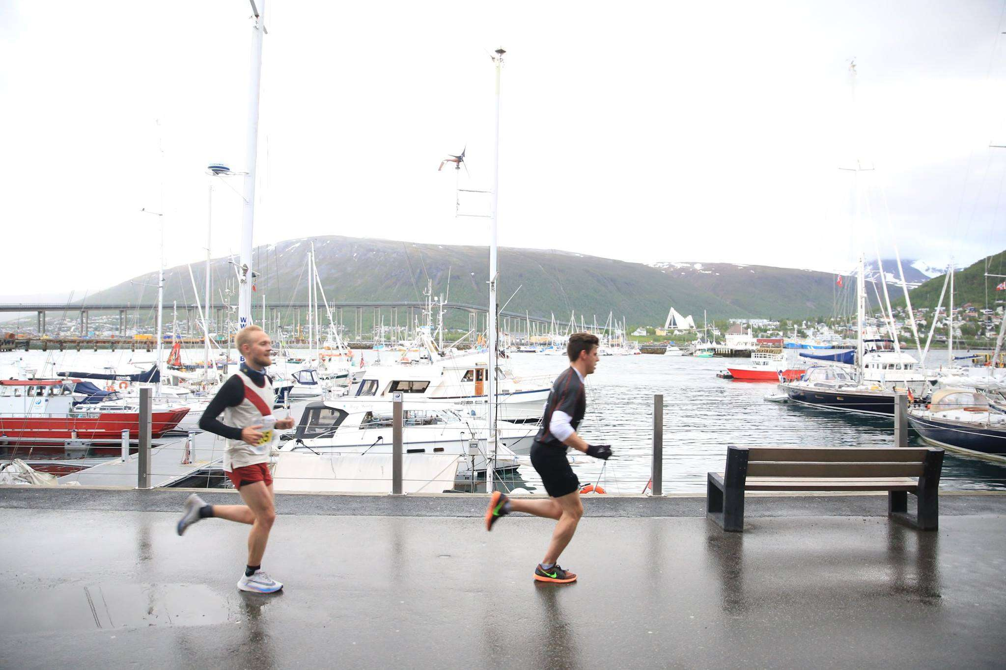 Two runners on the docks of Tromsø