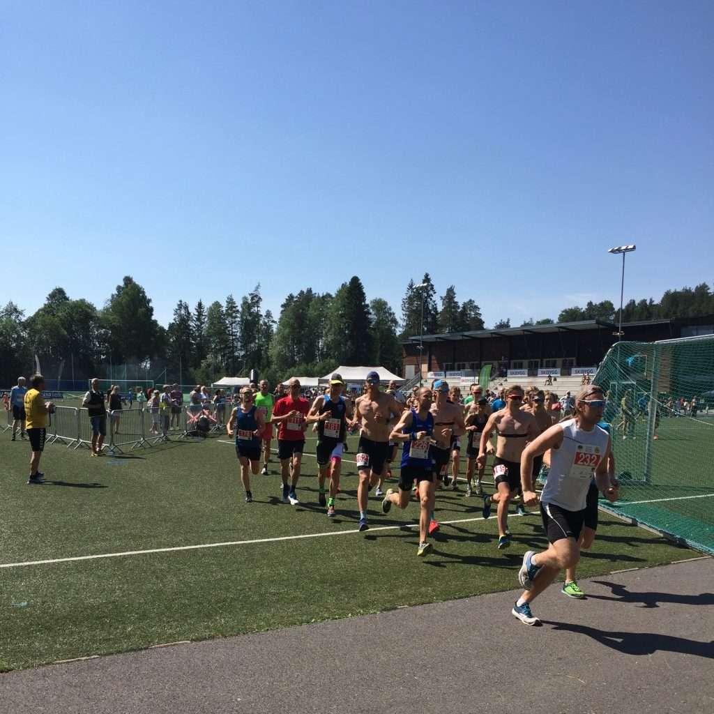 Runners at the start of Oppegårdmila 10k 2018Runners at the start of Oppegårdmila 10k 2018