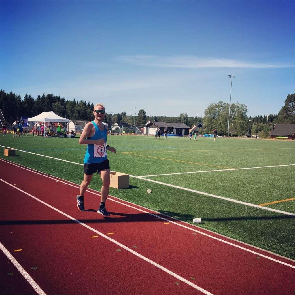 Runner at Kråkstad Athletics Track