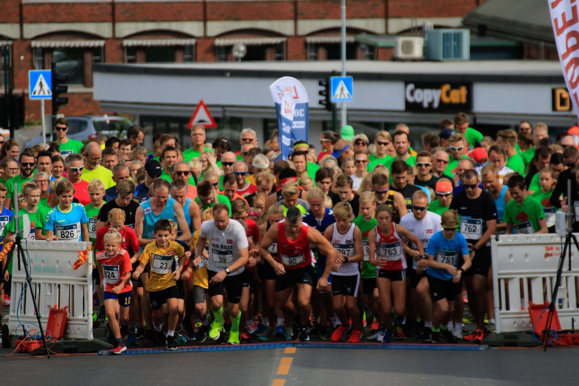 The start of Skiløpet 5k 2018