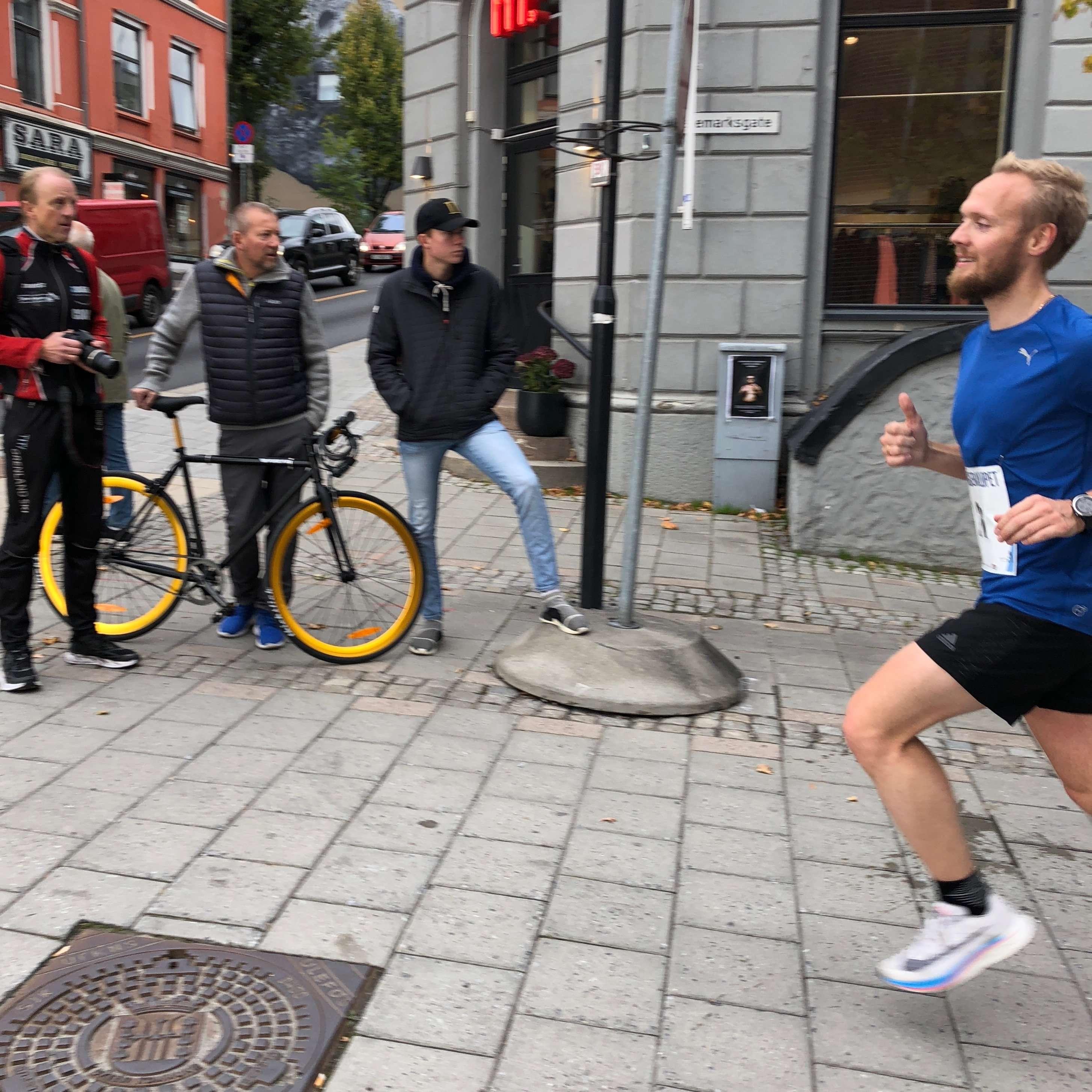 Runner from Skagerakløpet half marathon 2018