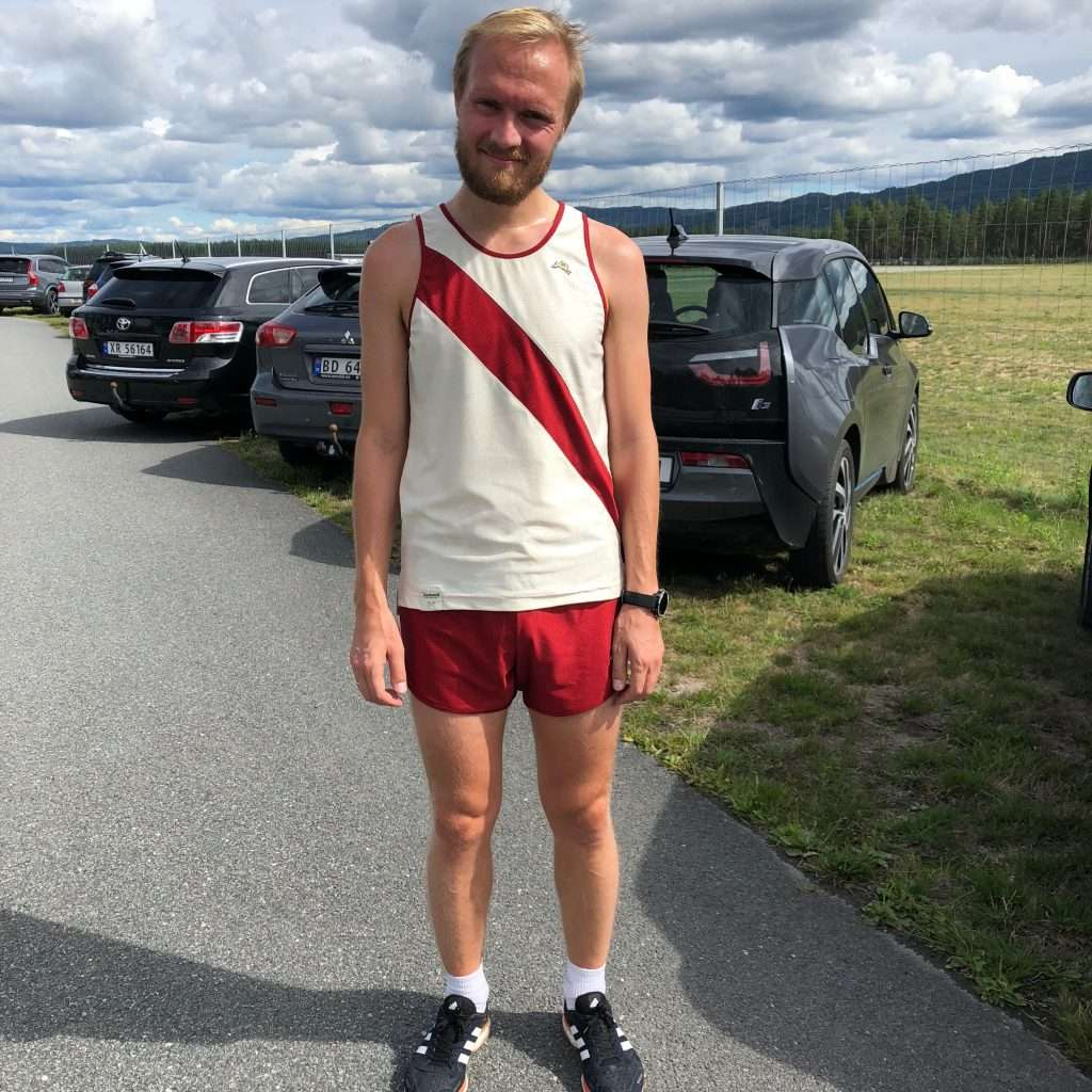 Sad runner after suffering a marathon training injury