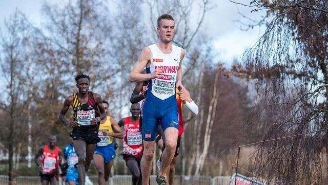 Filip Ingebrigtsen running at the 2018 Euro XC Champs.