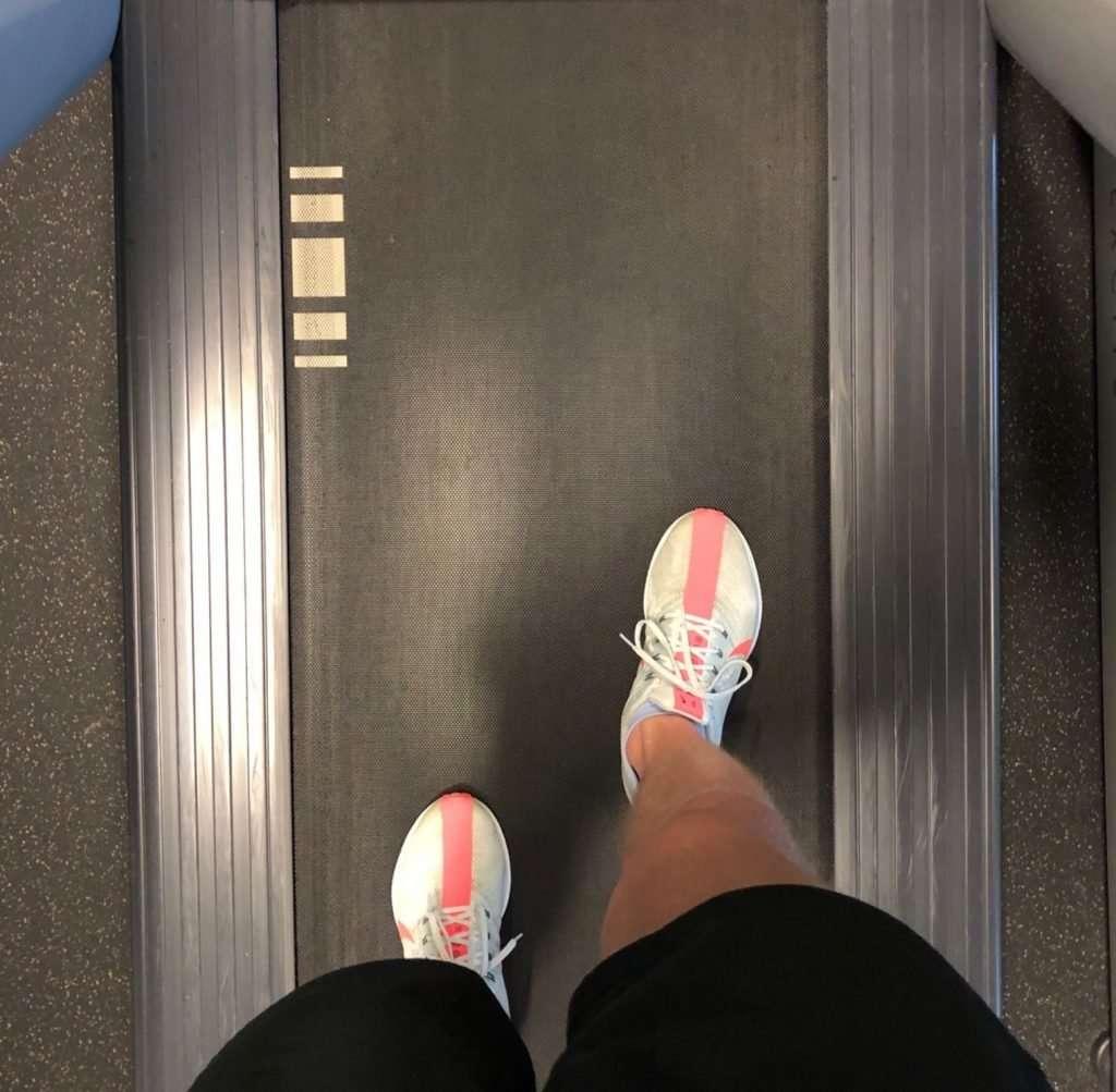Runner in Nike Zoom Pegasus Turbo on treadmill