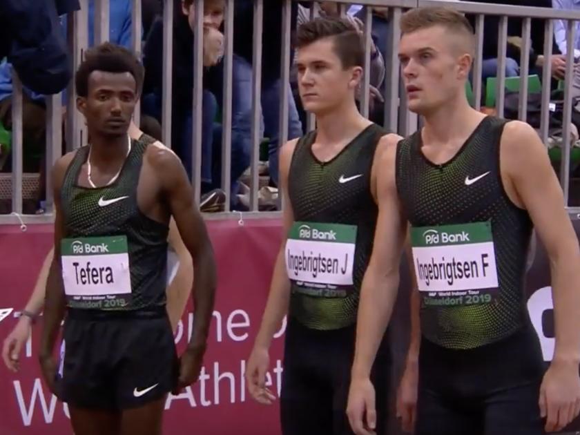 Samuel Tefera, Jakob Ingebrigtsen and Filip Ingebrigtsen