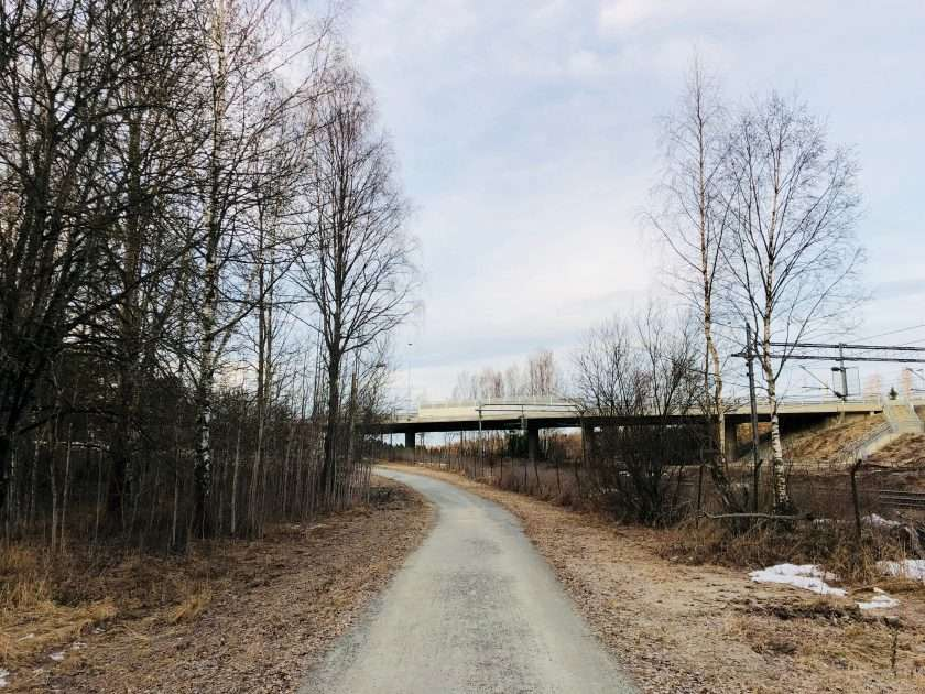 Running pathway in Langhus, Ski
