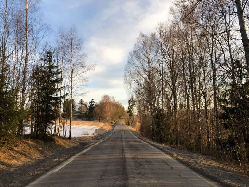 Country road during early spring