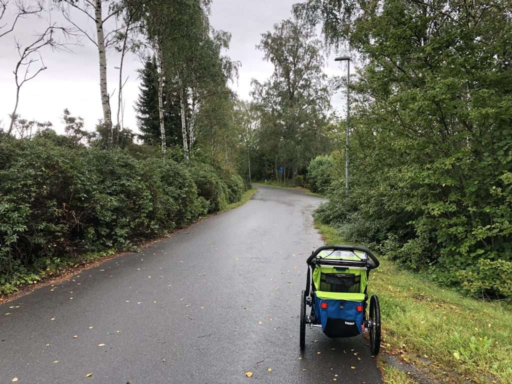 Jogging with a stroller during a recovery run