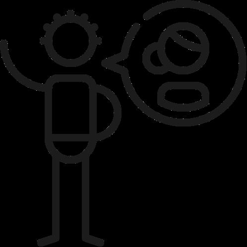 Icon talking