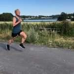 Man running strides