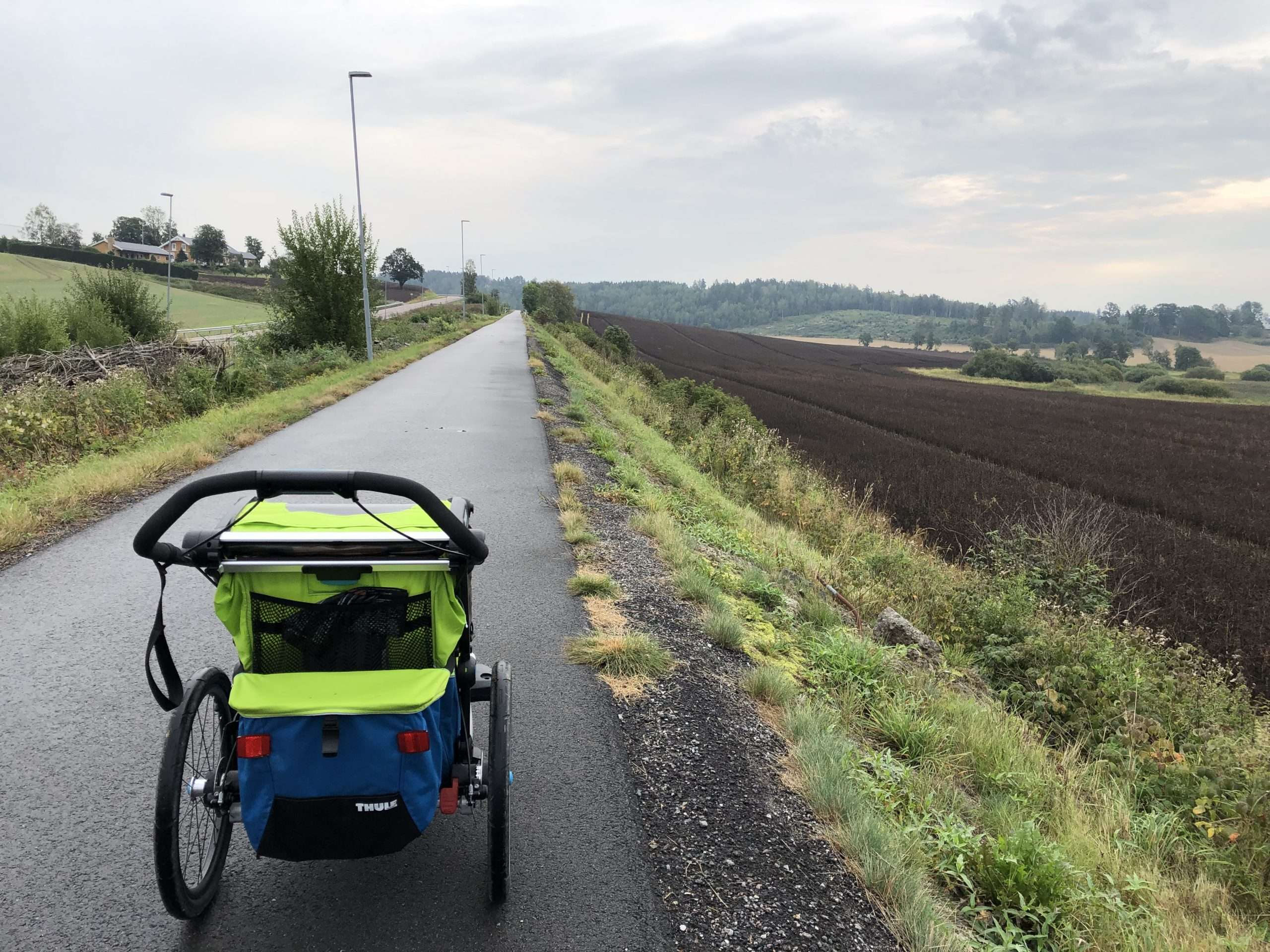 Running with a stroller