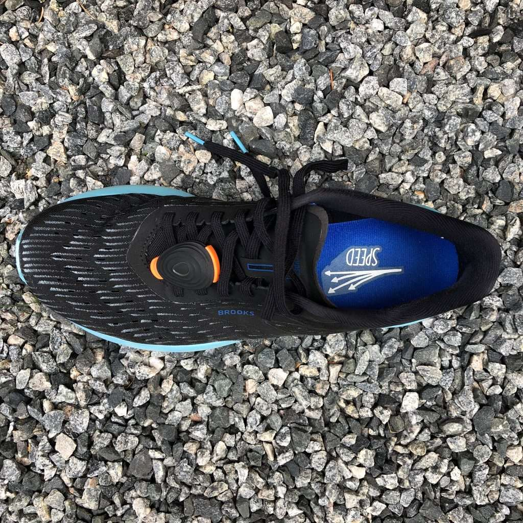 Brooks Hyperion Tempo top view wear at 110km