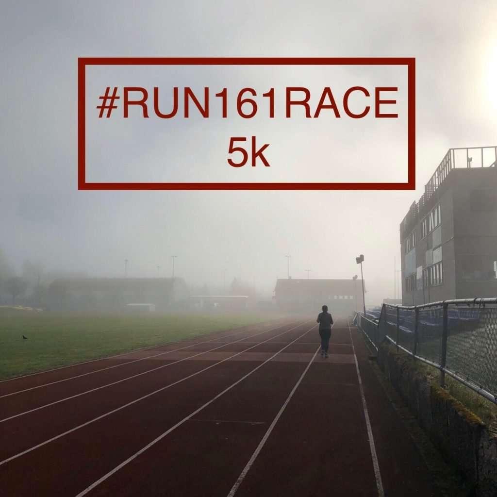 Anine Josefsen ran her #Run161Race 5k on a track