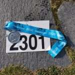 Perseløpet marathon start number and finisher medal