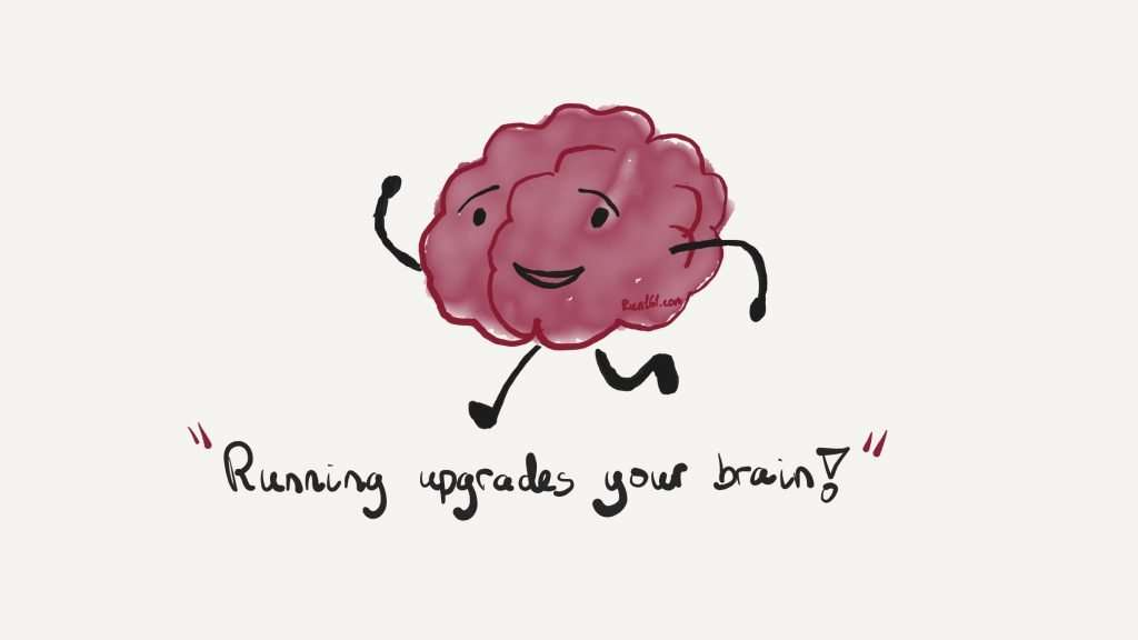 How to start running illustration of a human brain running
